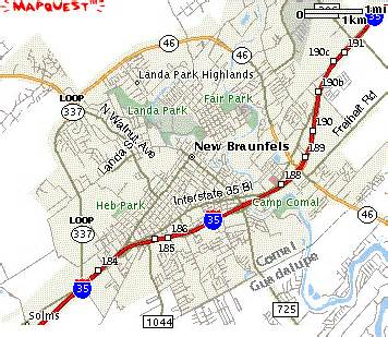 where is new braunfels map new braunfels map