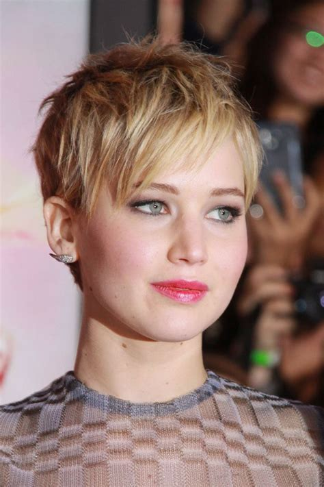 pin jennifer lawrence haircut 2014 short on pinterest best pixie cuts for 2014 demi lovato chin length bob
