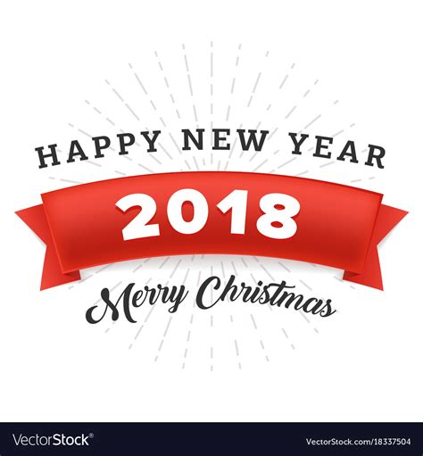 happy  year   merry christmas  red vector image