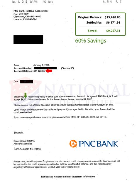 pnc bank employee business card template debt settlement letters