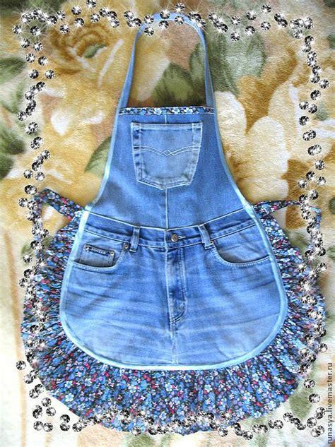 apron pattern using old jeans фартук для кухни quot джинсовый деловой quot handmade denim