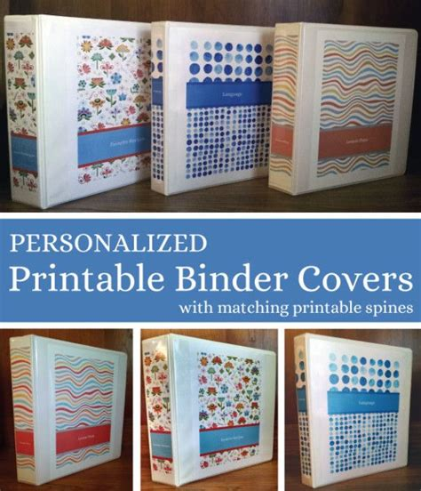 printable binder covers and spines printable binder covers spines make your own home