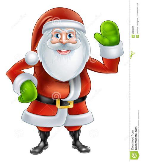 anmated waving snata santa waving stock vector image 47202903