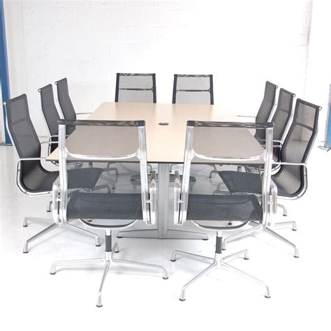 10 seater table ahrend 10 seater boardroom table maple meeting table