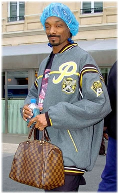 Snoop Dogg Louis Vuitton Was The That They Gave Me snoop dogg style louis vuitton damier speedy purseblog