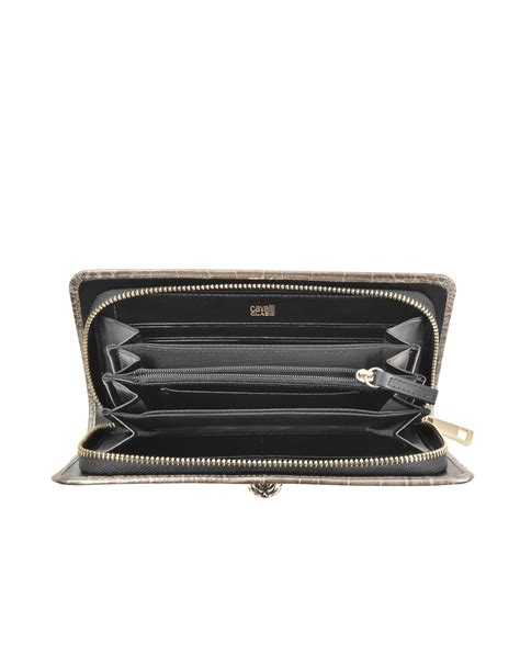Roberto Cavallis Plain Patent Leather Clutch by Class Roberto Cavalli Croco Print Leather Clutch