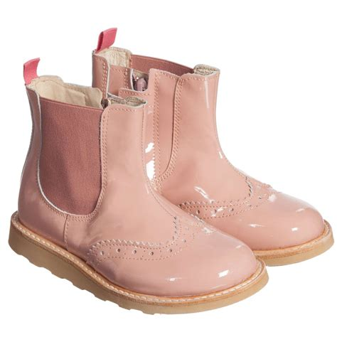 pink boots for soles pink patent francis chelsea boots