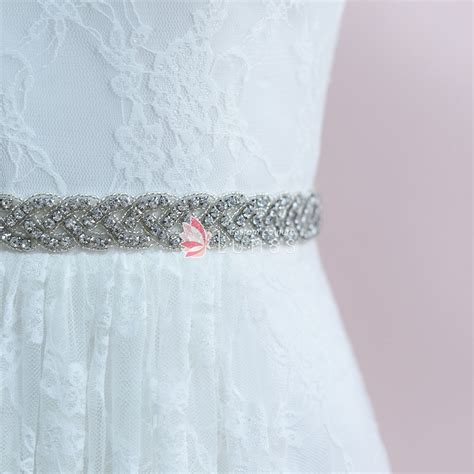 rhinestones beaded bridal sash belt ribbon belt lunss
