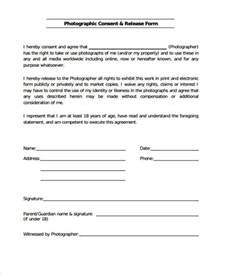 photo release consent form template release form templates