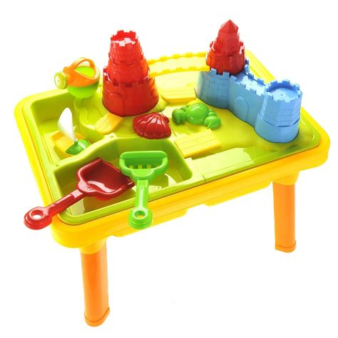 2 sand and water table sandbox castle 2 in 1 sand and water table with play