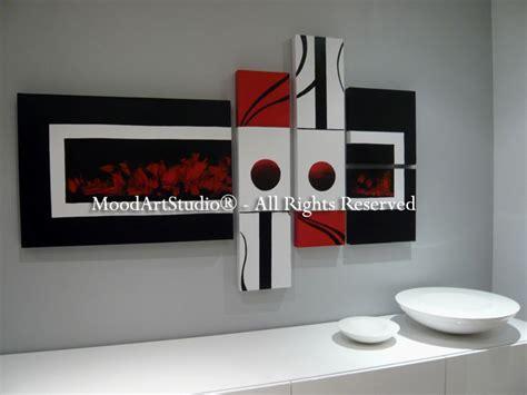 cuadros modernos blanco y negro cuadro moderno estilo minimalista en rojo negro y blanco