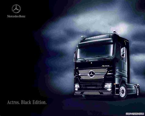 wallpaper black edition mercedes benz actros 1861 ls black edition 55070 wallpaper