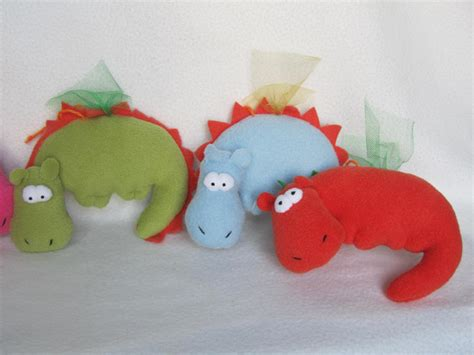 Handmade Toys - handsome handmade dragons for the new 2012 year handmade