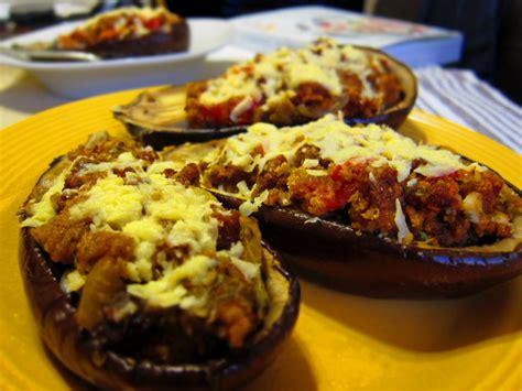 stuffed eggplant sausage stuffed eggplant blogher