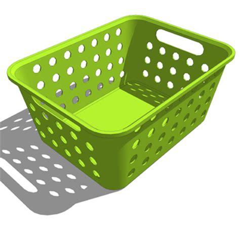Storage Basket Green small plastic baskets 3d model formfonts 3d models