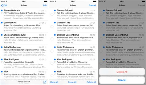 yahoo email going to trash iphone how to delete all emails on iphone and ipad