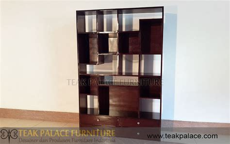 Rak Buku Dinding Dari Kayu harga rak buku minimalis kayu jati sekat ruangan seri