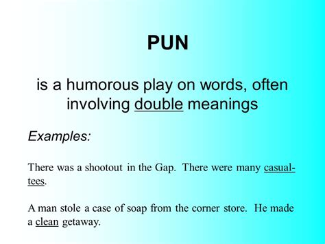 exle of a pun is a word that imitates the sound it represents ppt
