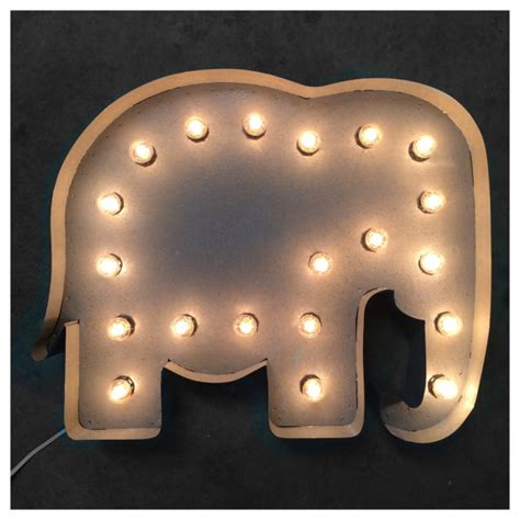elephant lights 24 elephant marquee light up elephant marquee sign