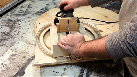 router jig cutting spirals  homemade tool youtube