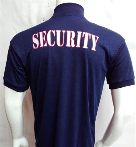 Kaos Security Polos Biru Dongker jual kaos security kerah tinggi biru dongker niyansuri
