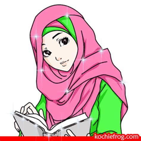 wallpaper animasi muslimah berjilbab gambar dp bbm animasi muslimah bergerak terbaru kochie frog
