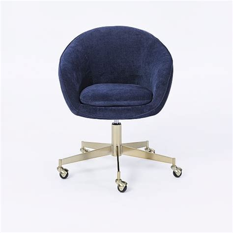 swivel office chair alys swivel office chair west elm