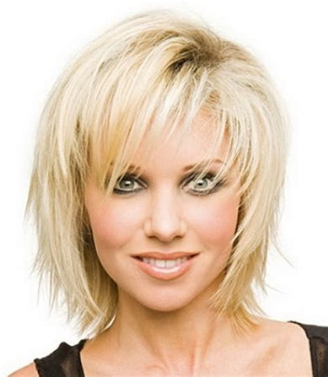medium length choppy bob hairstyles for women over 40 choppy medium length hairstyles