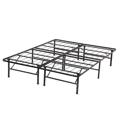 Folding Bed Frame New Modern Bi Fold Folding Platform Metal Bed Frame Mattress Foundation Bf Ebay