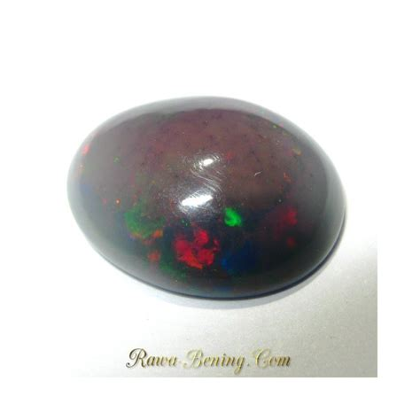 Batu Multi Color jual batu mulia black opal multi color oval cabochon 3 30 cts