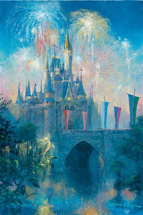 painting disney walt disney world castle and paintings by artists