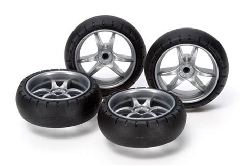 Tamiya 15491 Gp491 Large V Spark Narrow Wheels Wbarrel Tire large dia v spoke narrow wheels w arched tires