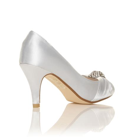 ivory bridal shoes high heel ivory white satin low heel bridal prom