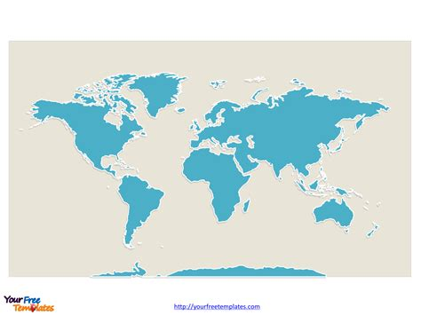 free continent editable map free powerpoint templates