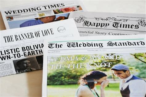 Upcoming Wedding Announcement Newspaper by Diy Save The Date