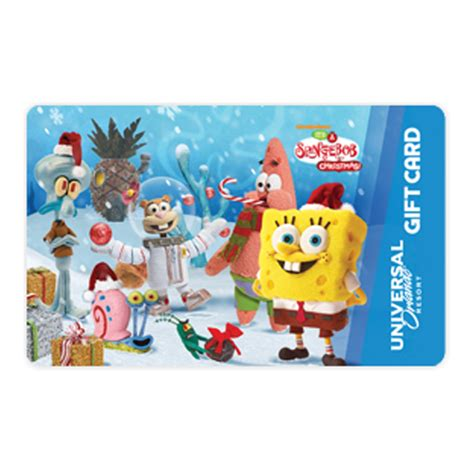 Universal Gift Card - your wdw store universal collectible gift card holiday spongebob friends