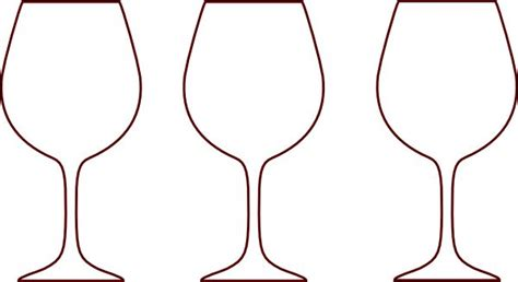 wine glass template chagne bottle outline wine glass silhouettes clip