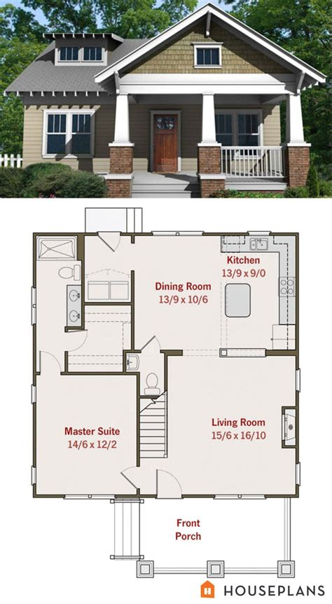 best small house plan small craftsman bungalow floor plan and elevation best
