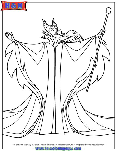 Free Coloring Pages Of Malificent Maleficent Coloring Pages