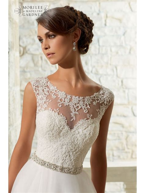 wedding dress lace top mori 5315 venice lace top tulle skirt style