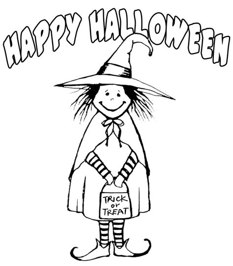 witch costume halloween coloring page witch costume happy halloween coloring pages printable