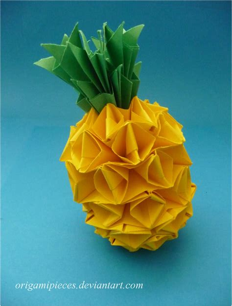 Pineapple Paper Craft - origami pineapple by origamipieces on deviantart