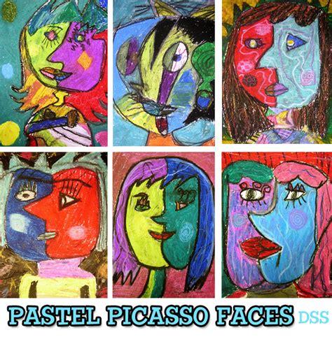 picasso paintings ks1 pastel picasso faces lesson space sparkle