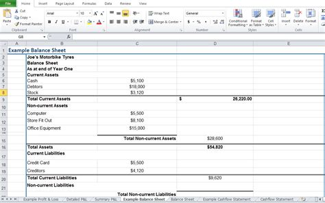 excel balance sheet template free restaurant profit and loss statement template excel