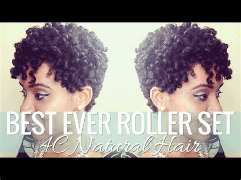 how to roller set hair roller setting tutorial 2017 relaxed best roller set on short 4c natural hair styles