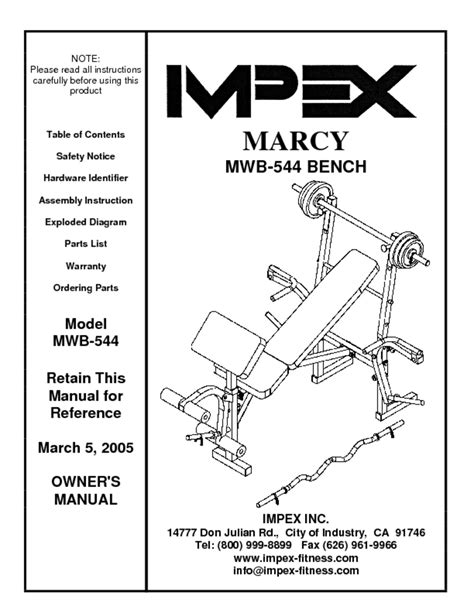 100 marcy elite 9010g smith machine manual