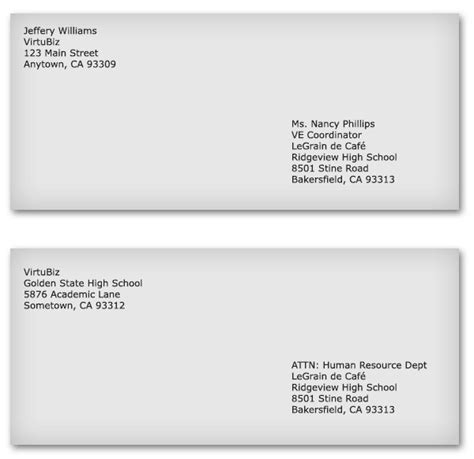 Business Letter Format Envelope 10 Best Images Of Business Envelope Format Business Address Envelope Sle Proper Business