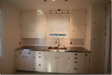 How To Stainless Steel Countertops by Remodelaholic Affordable Stainless Steel Countertops Diy
