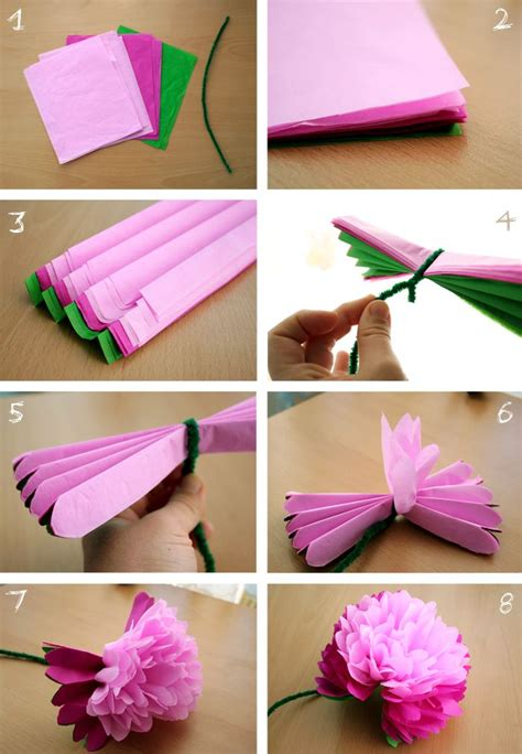 Tissue Paper Flower Designs Easy Paper Designs And Crafts
