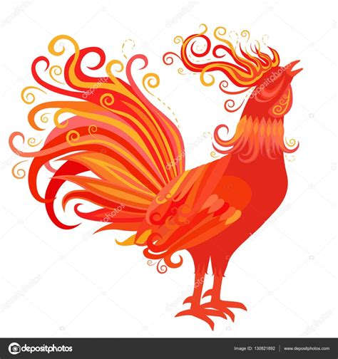 new year 2018 rooster rooster symbol of 2017 new year stock vector